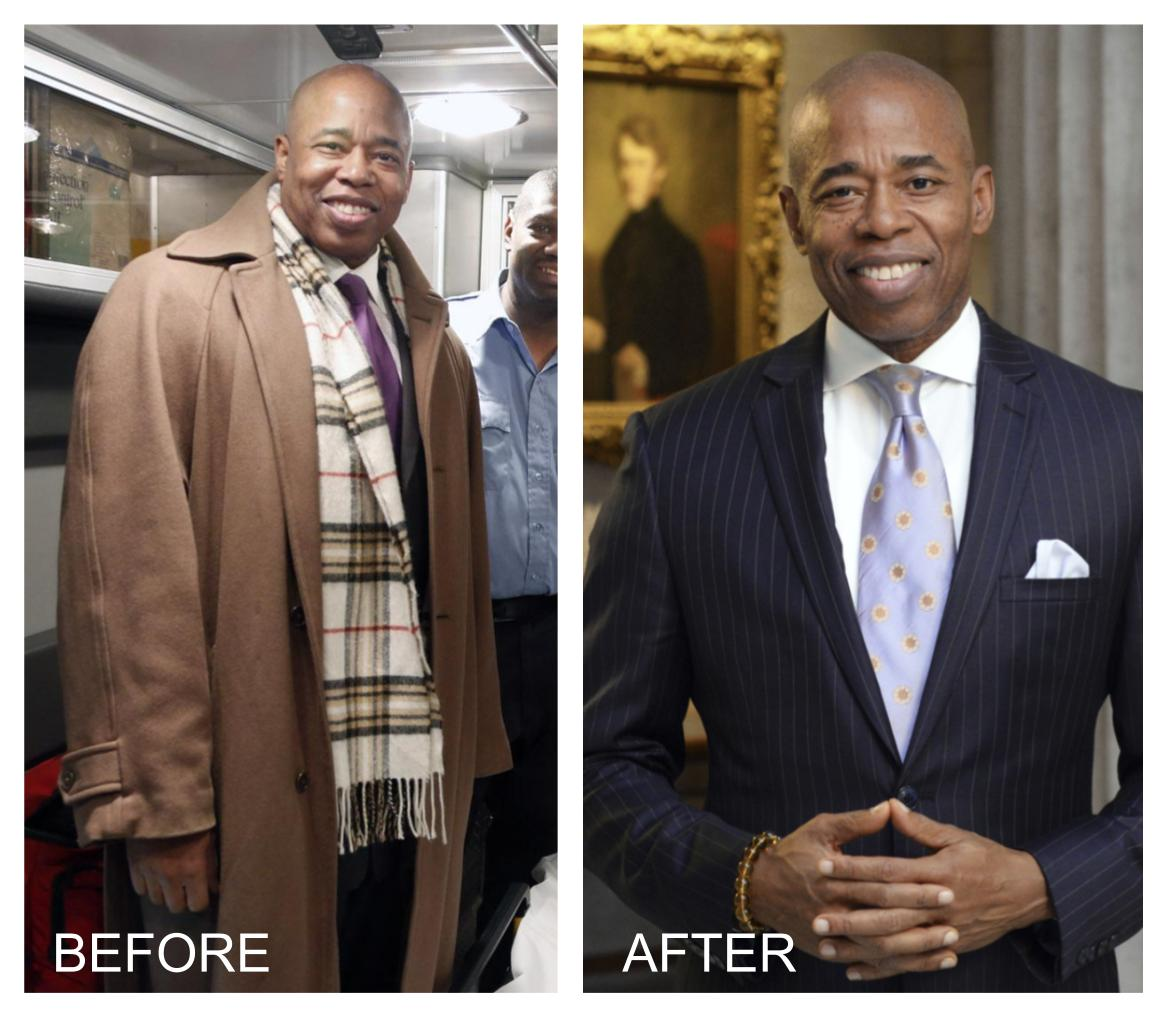 picture of Eric Adams before and after reversing diabetes with a plant-based diet