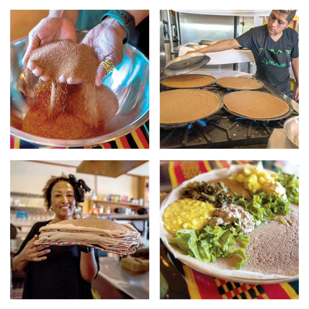 Cafe Colucci injera made from ancient grains