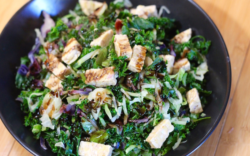 Balsamic Greens and Tempeh