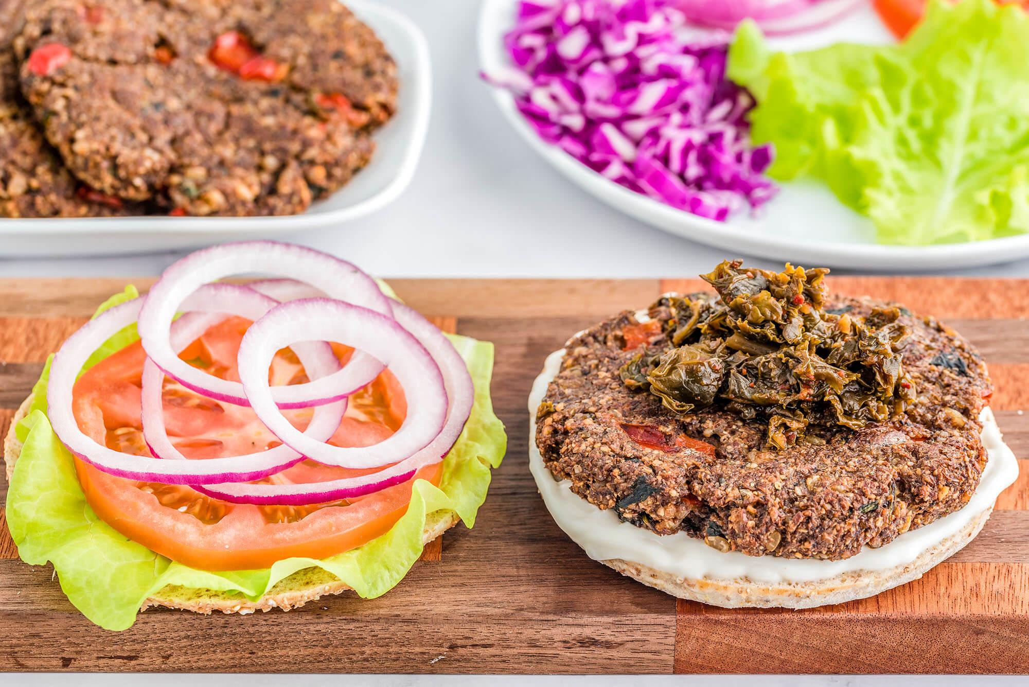 Plant-Based Meal Prep: Brown Rice Umami Burger