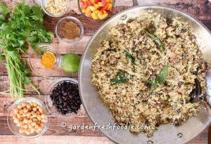Cauliflower Rice Bowl Mise En Place
