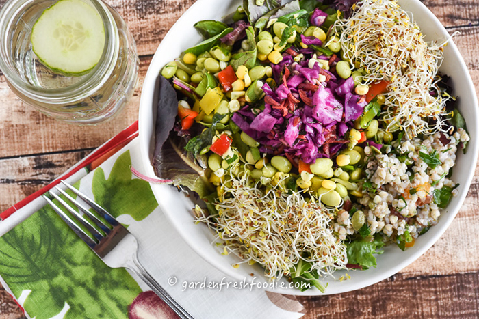 Edamame Salad with Light Herb Vinaigrette