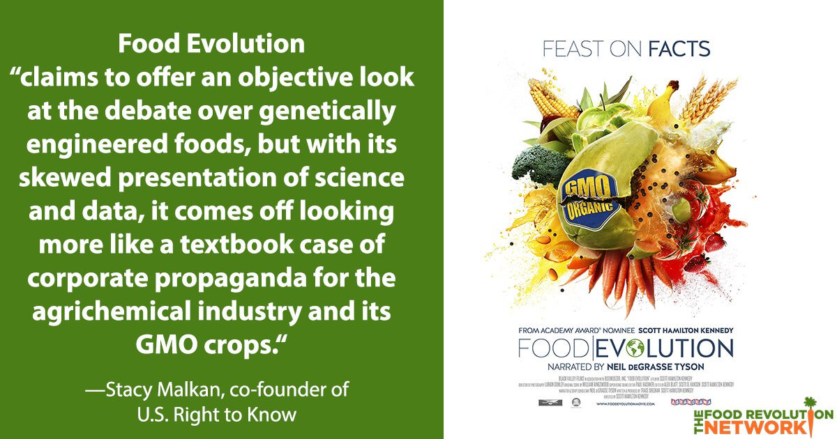 Food Evolution - GMO film that pushes the chemical industry agenda