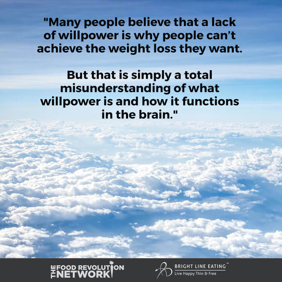 Food Freedom - quote about willpower and weight loss
