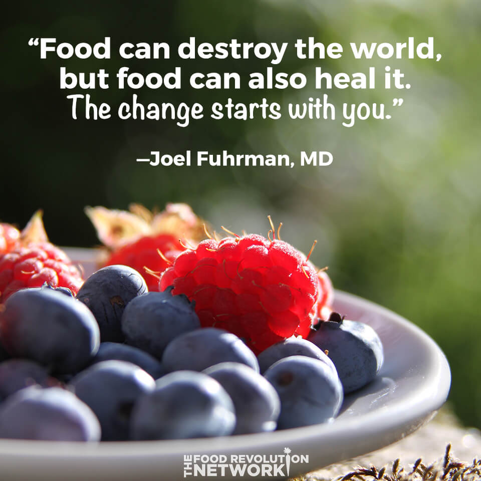 Food can heal the world quote