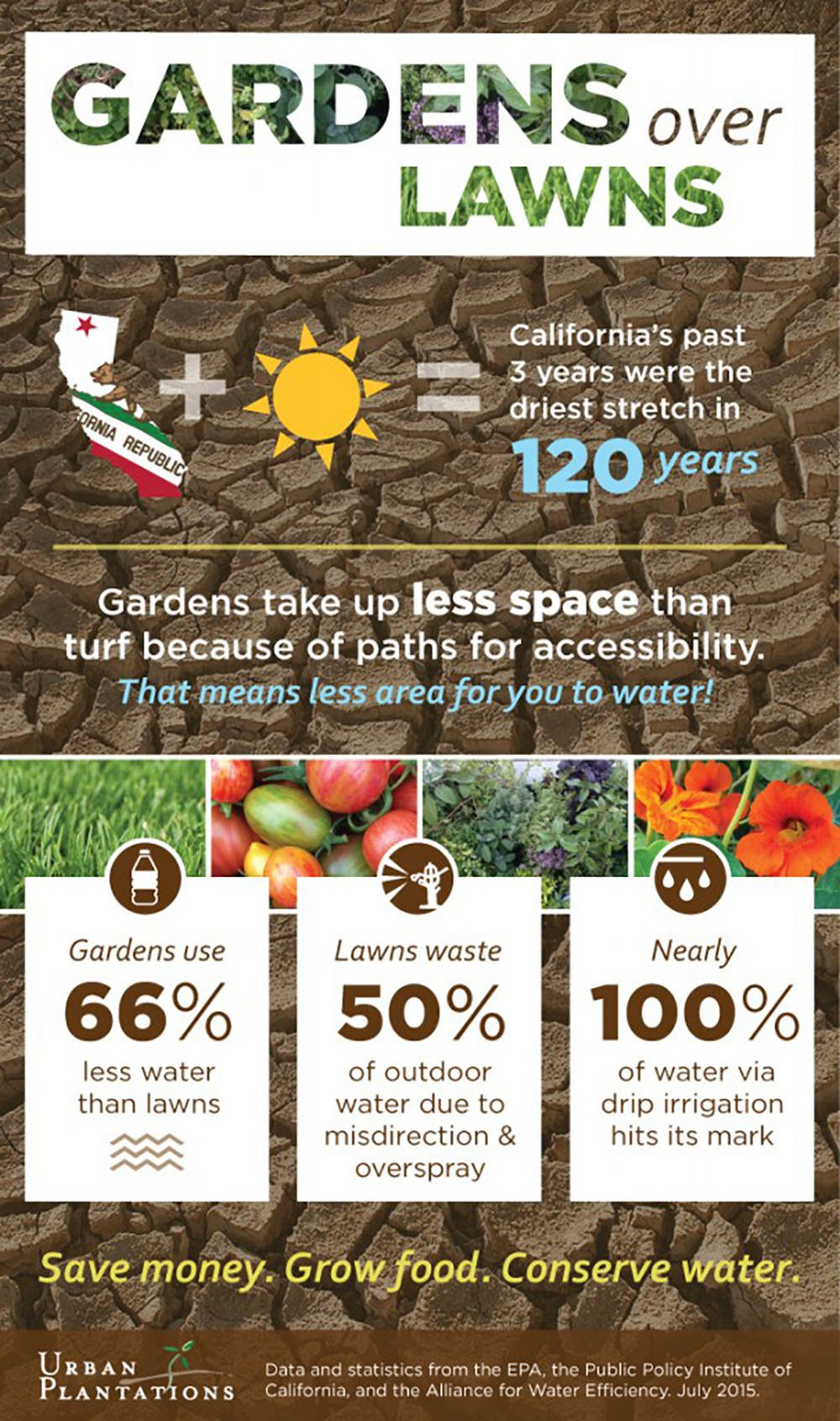 Gardens not lawns infographic