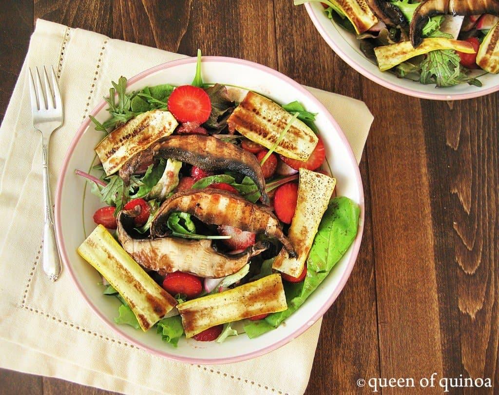 夏季烤蔬菜沙拉
