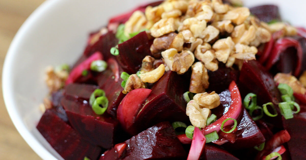 Healthy Thanksgiving Recipe - Balsamic Beet Salad