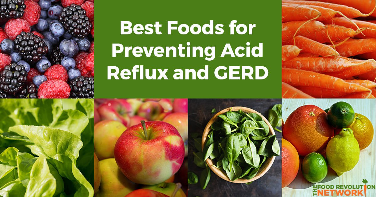 How to prevent acid reflux and GERD with food
