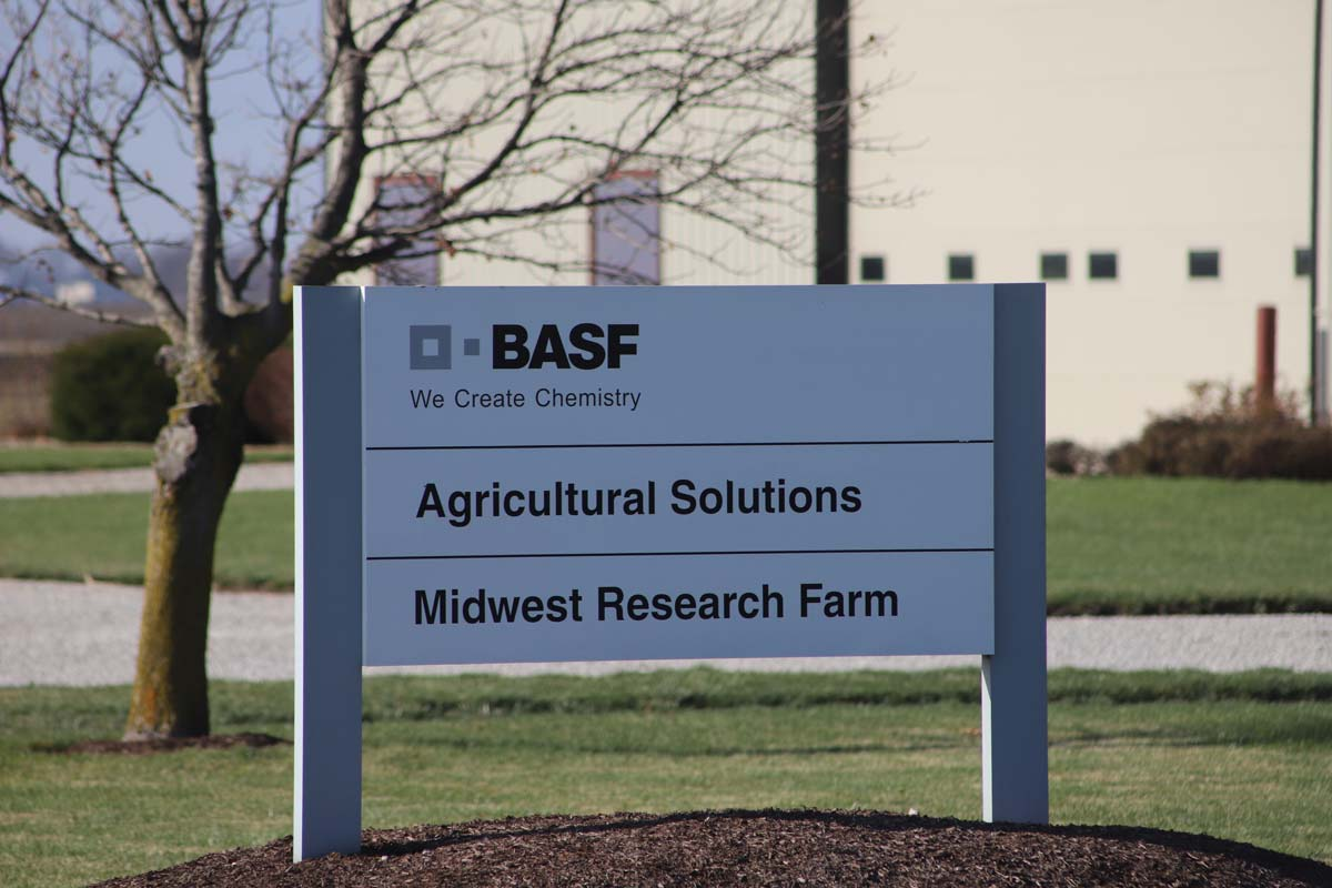 basf research facility signage outside building