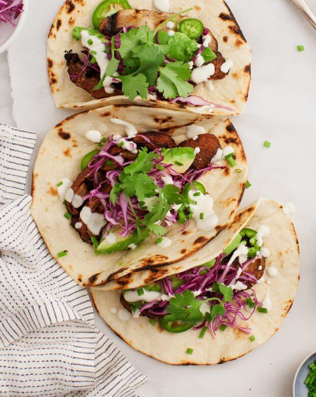 Portobello Tacos w/ Jalapeño Sauce