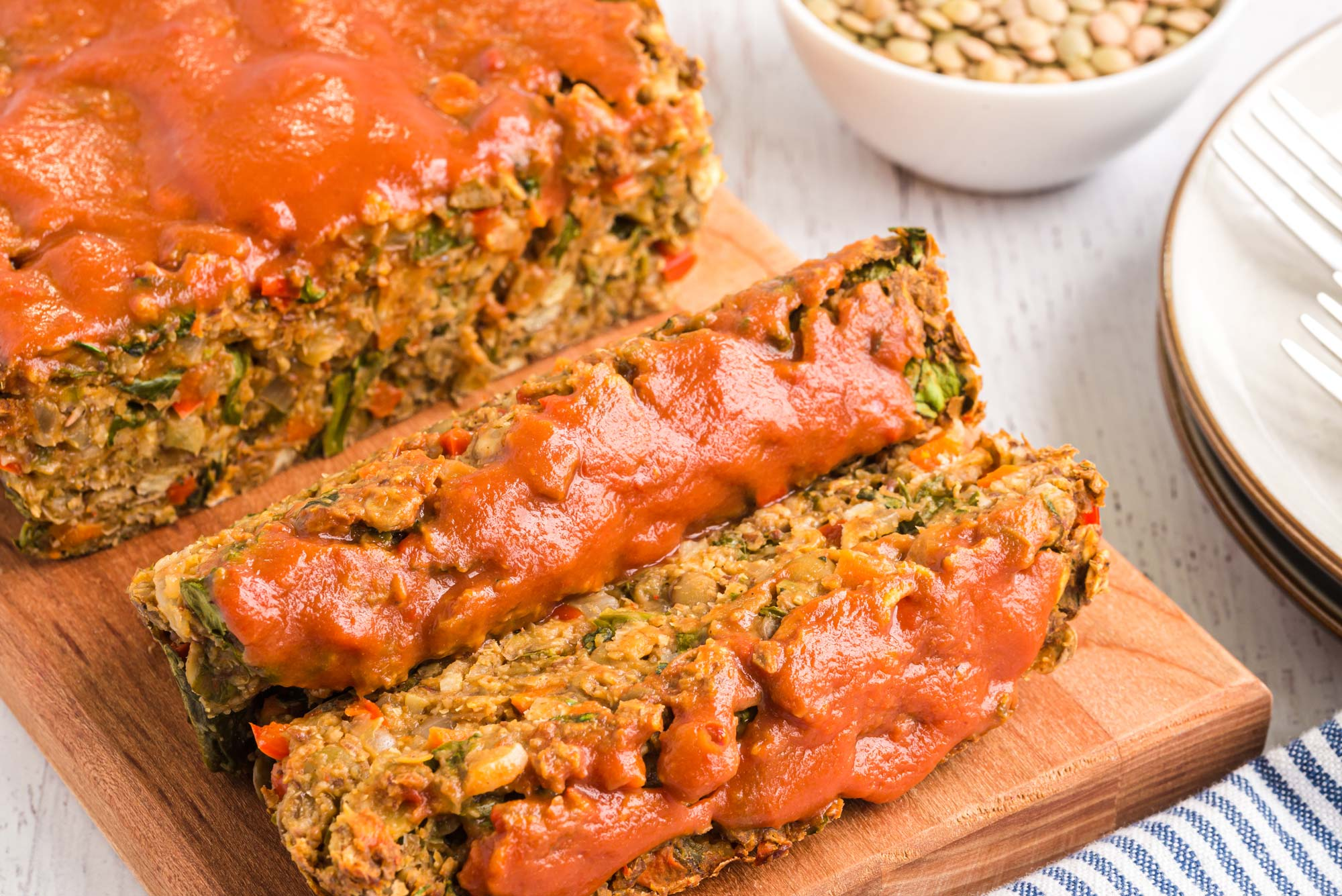 lentil flax loaf
