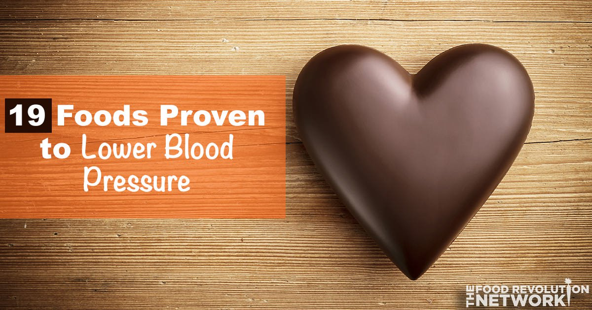 Lower blood pressure with food