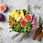 Fig Tofu Chickpea Salad