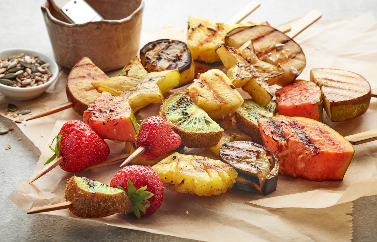 4th of July: Grilled fruit skewers