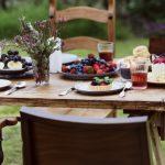 Outdoor table spread