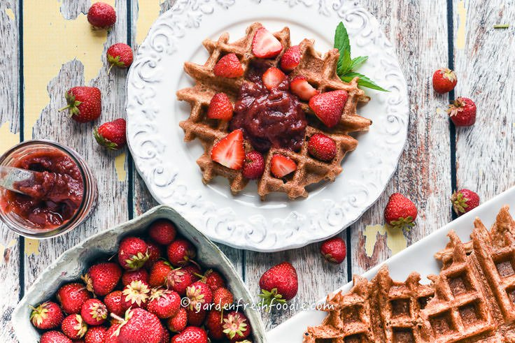Gluten-FreOat Waffles with Fresh Orange
