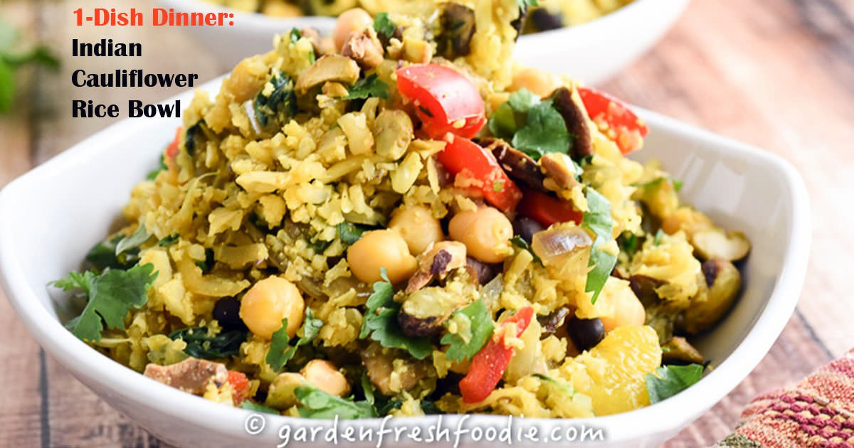 Plant based recipe indian cauliflower rice bowl revolutionary recipe indian cauliflower rice bowl forumfinder Gallery