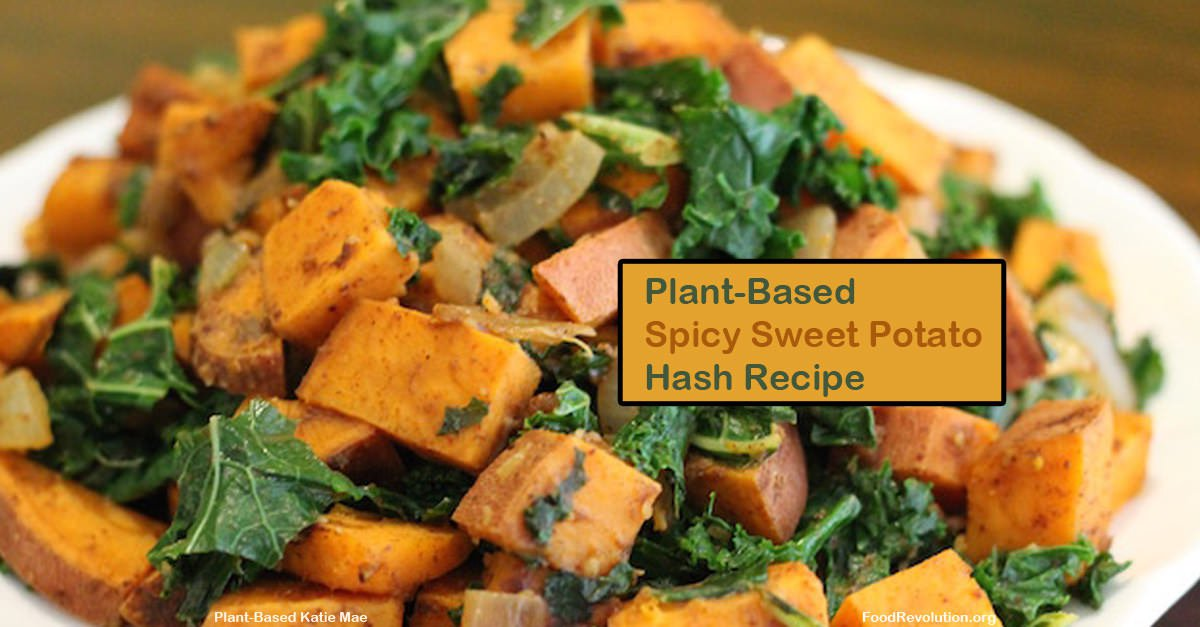 Plant-Based Recipe Spicy Sweet Potato Hash