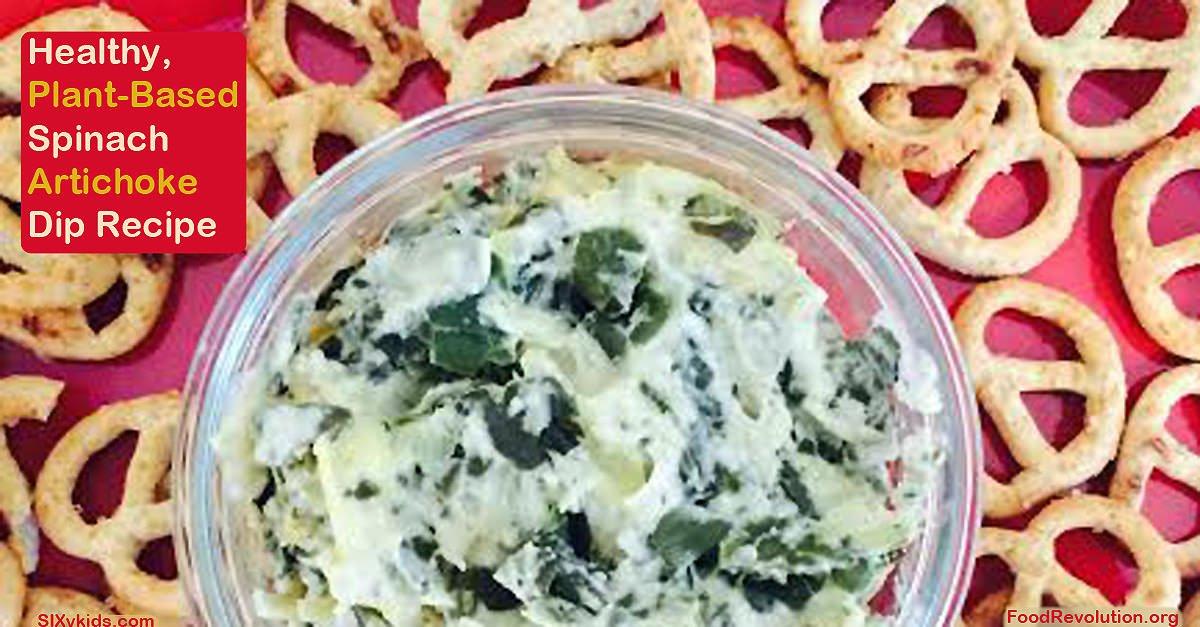 Plant-Based Recipe Spinach Artichoke Dip