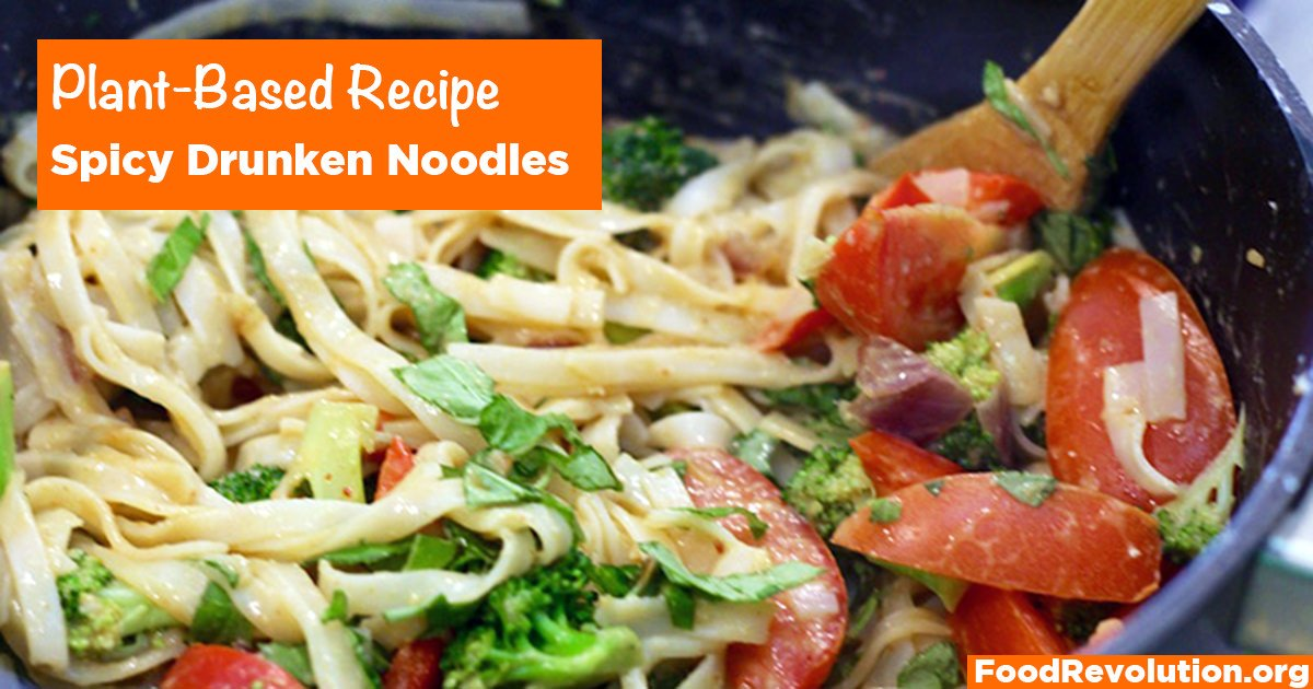 Plant-Based Thai Recipe for Spicy Drunken Noodles