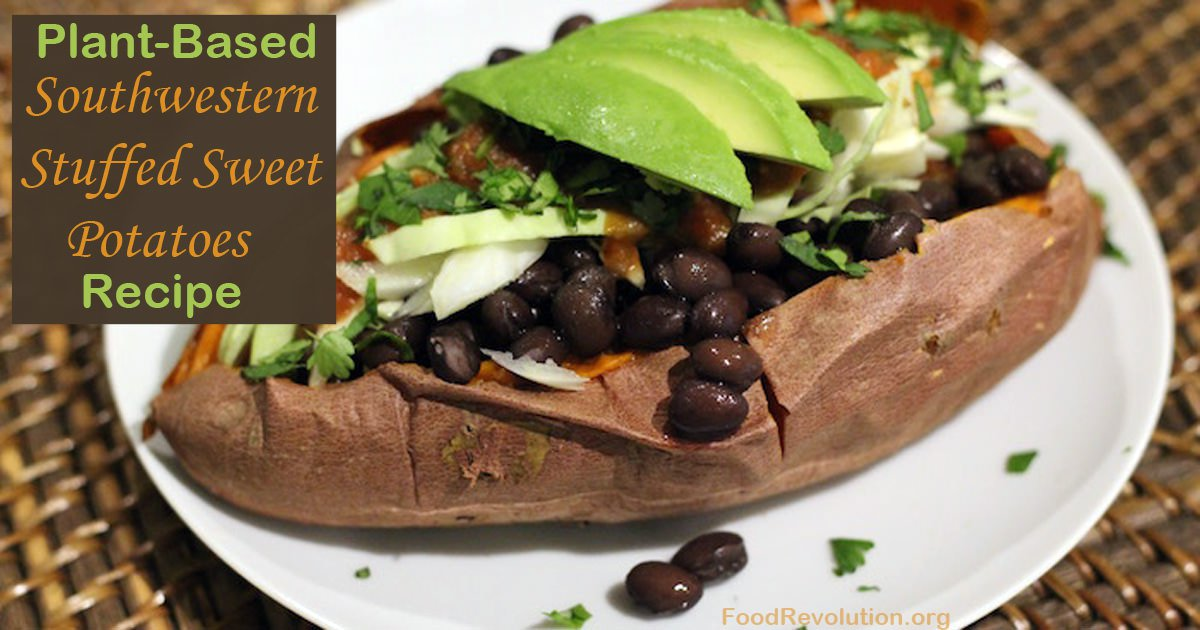 Plant-Based Southwestern Stuffed Sweet Potatoes