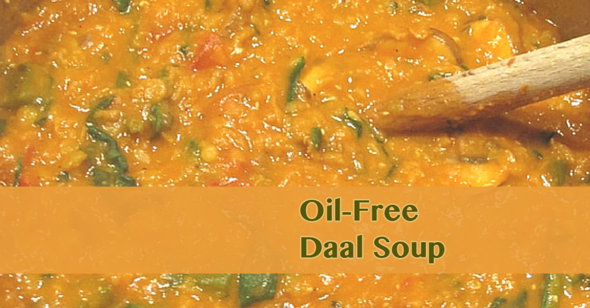 Plant-based recipe daal soup