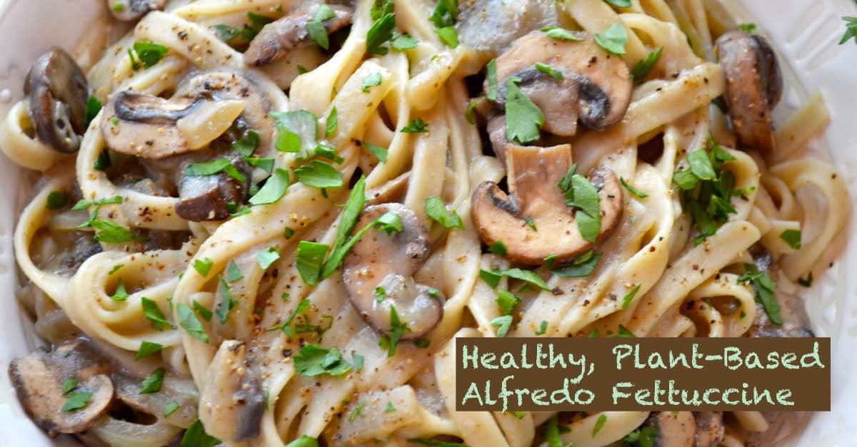 Mushroom Alfredo Fettuccine