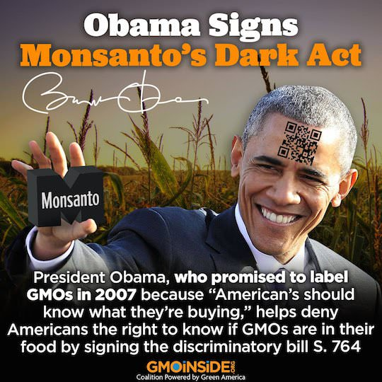 President Obama signs GMO labeling bill