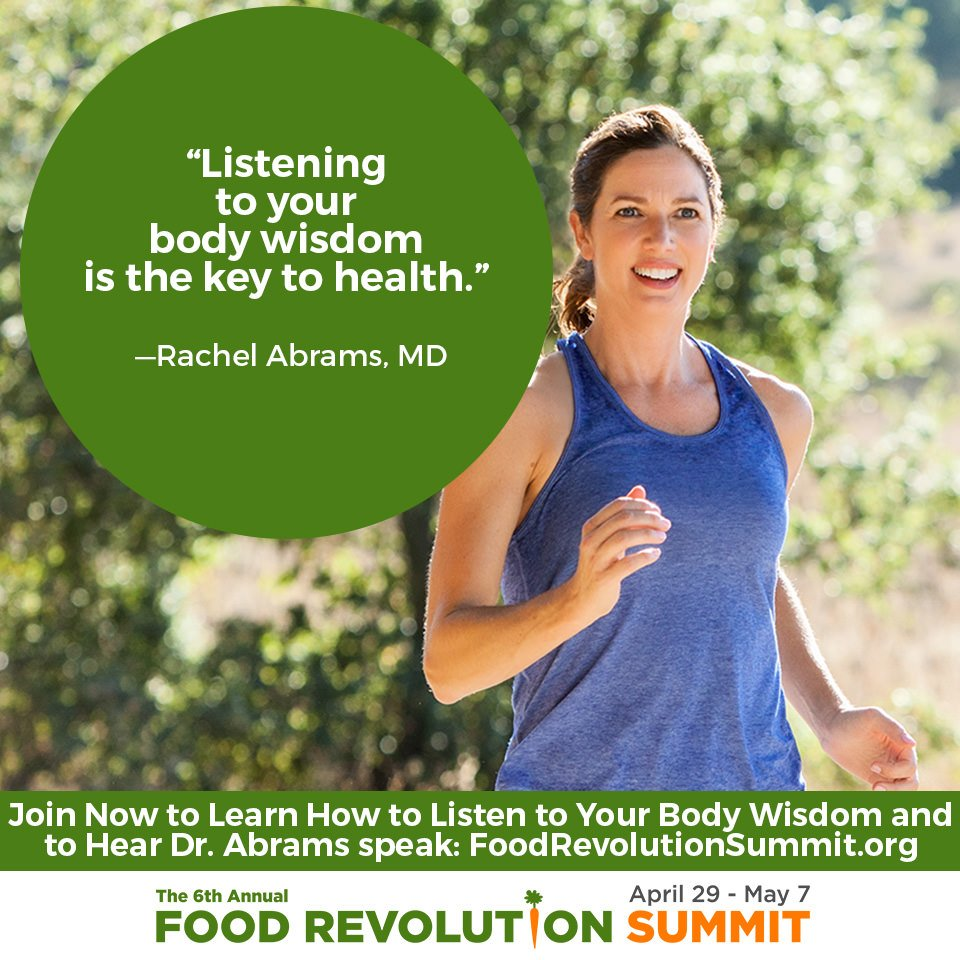 Quote by Rachel Abrams, MD, for the Food Revolution Summit