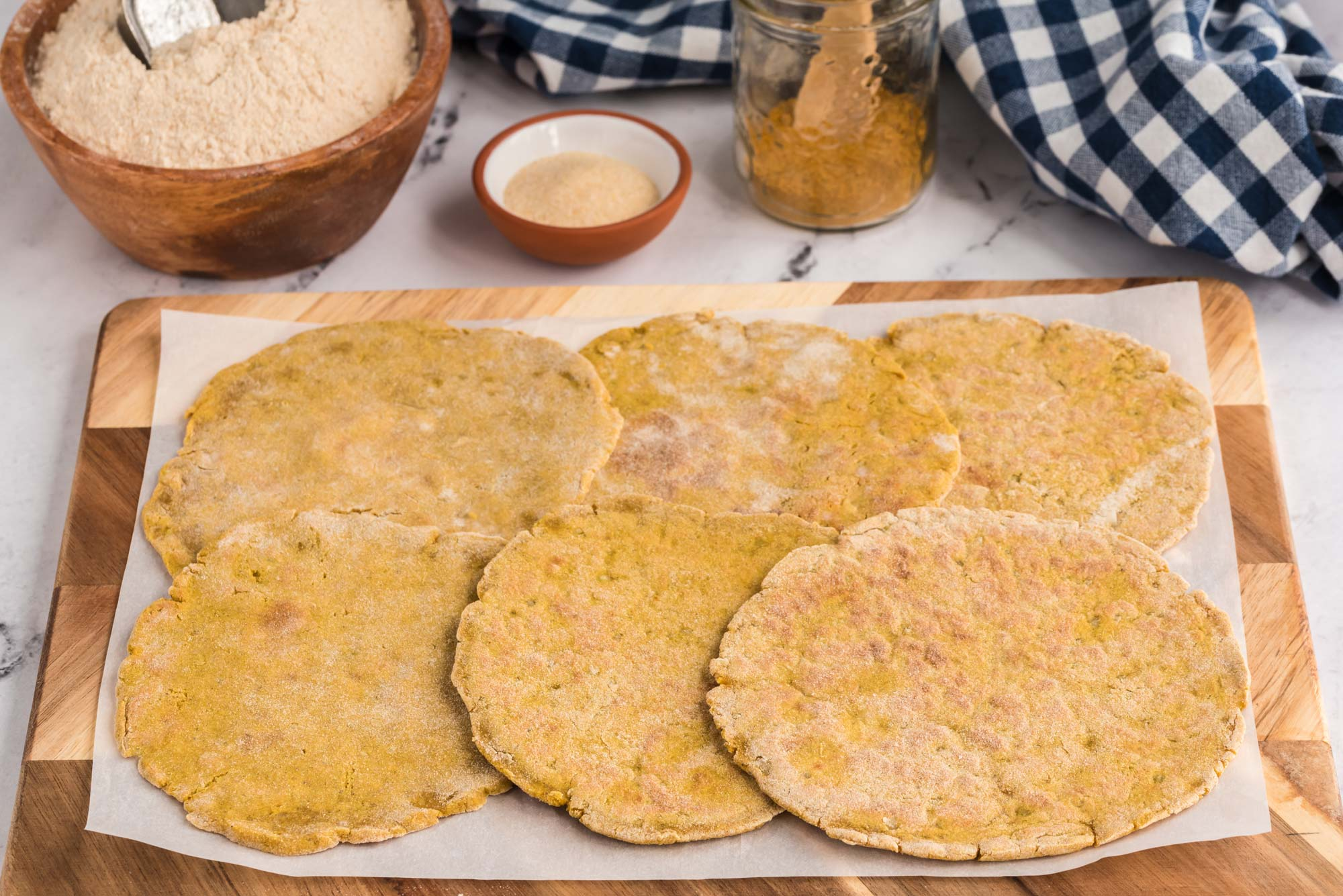 amaranth potato paratha on cutting board