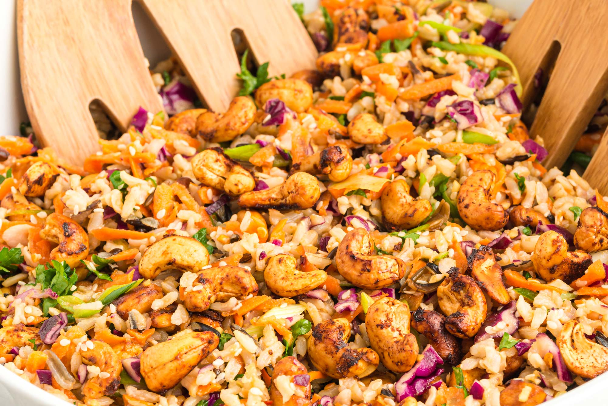 asian black rice salad