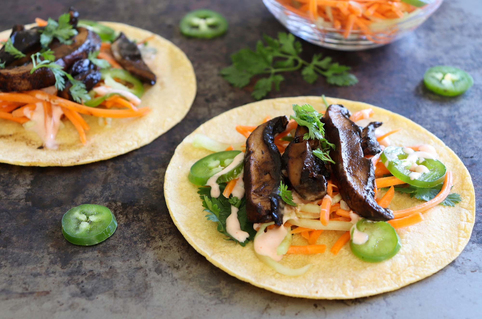 Plant-based dinner recipes: Bahn mi tacos