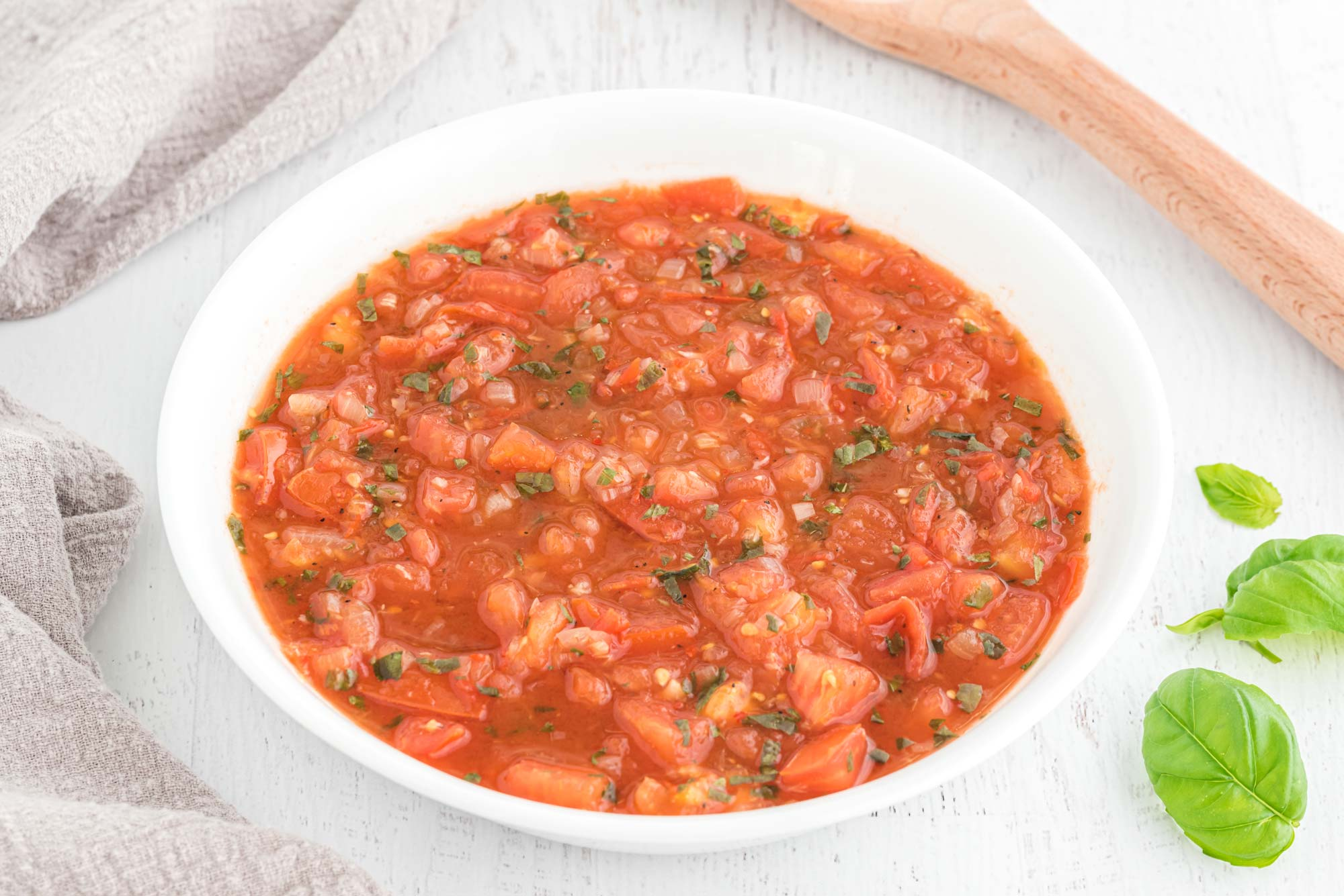 basic red sauce in bowl