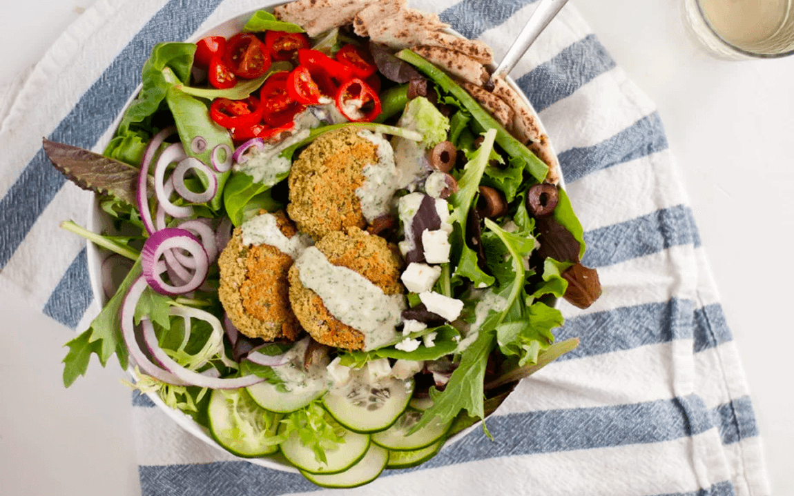 Get the Benefits of Beans with This Crispy Baked Falafel