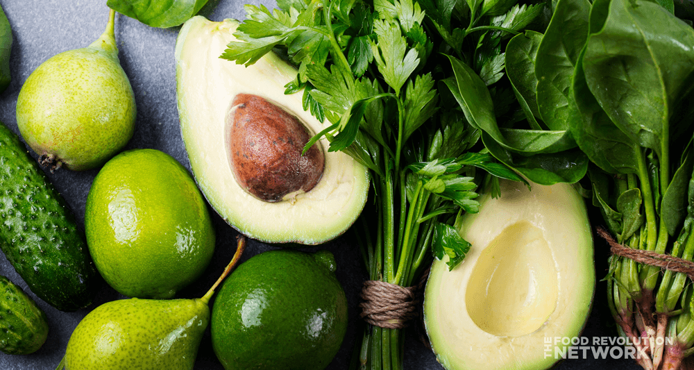 avocado, limes, and other green foods