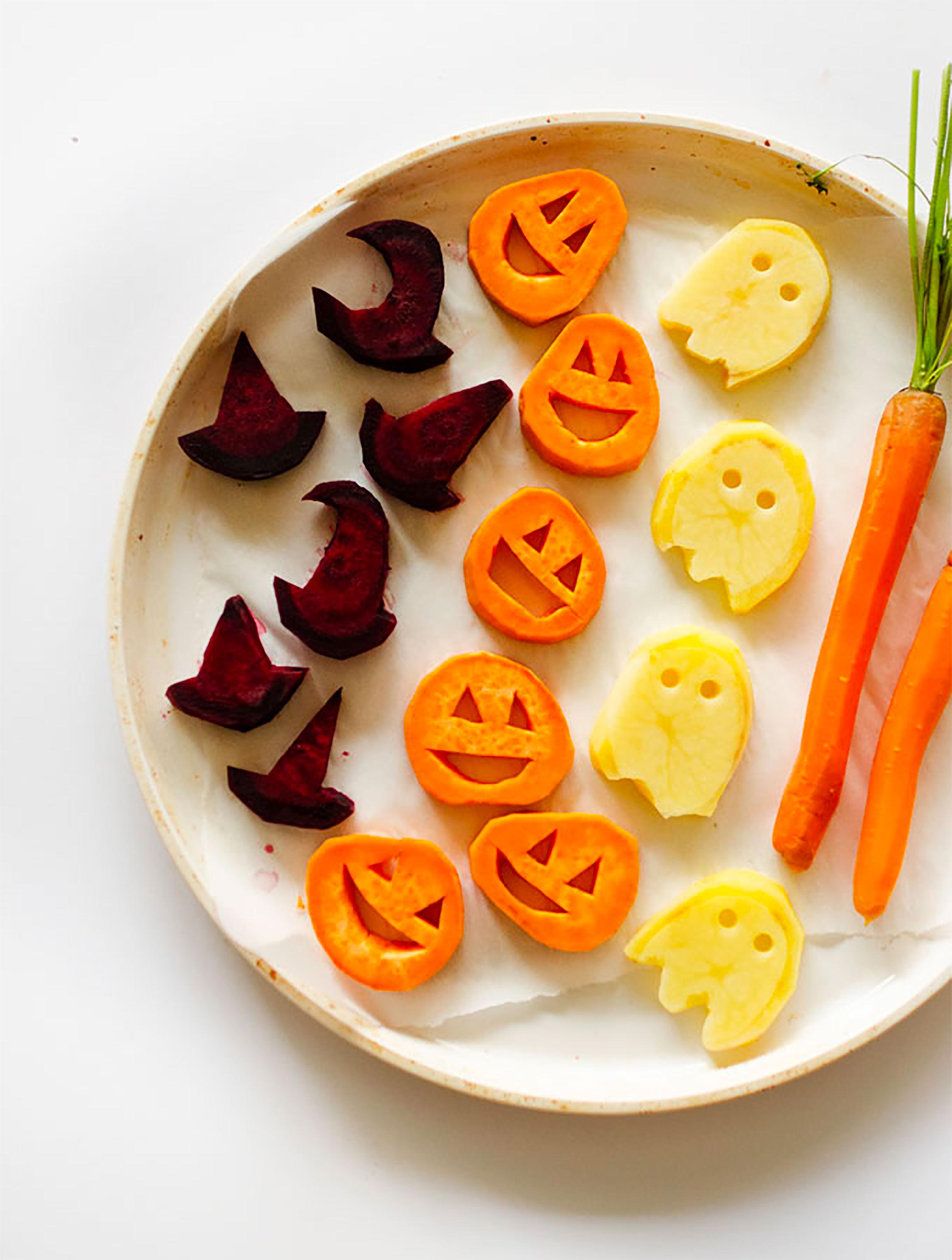 Healthy Halloween Snacks & Treats: Halloween Roasted Vegetables