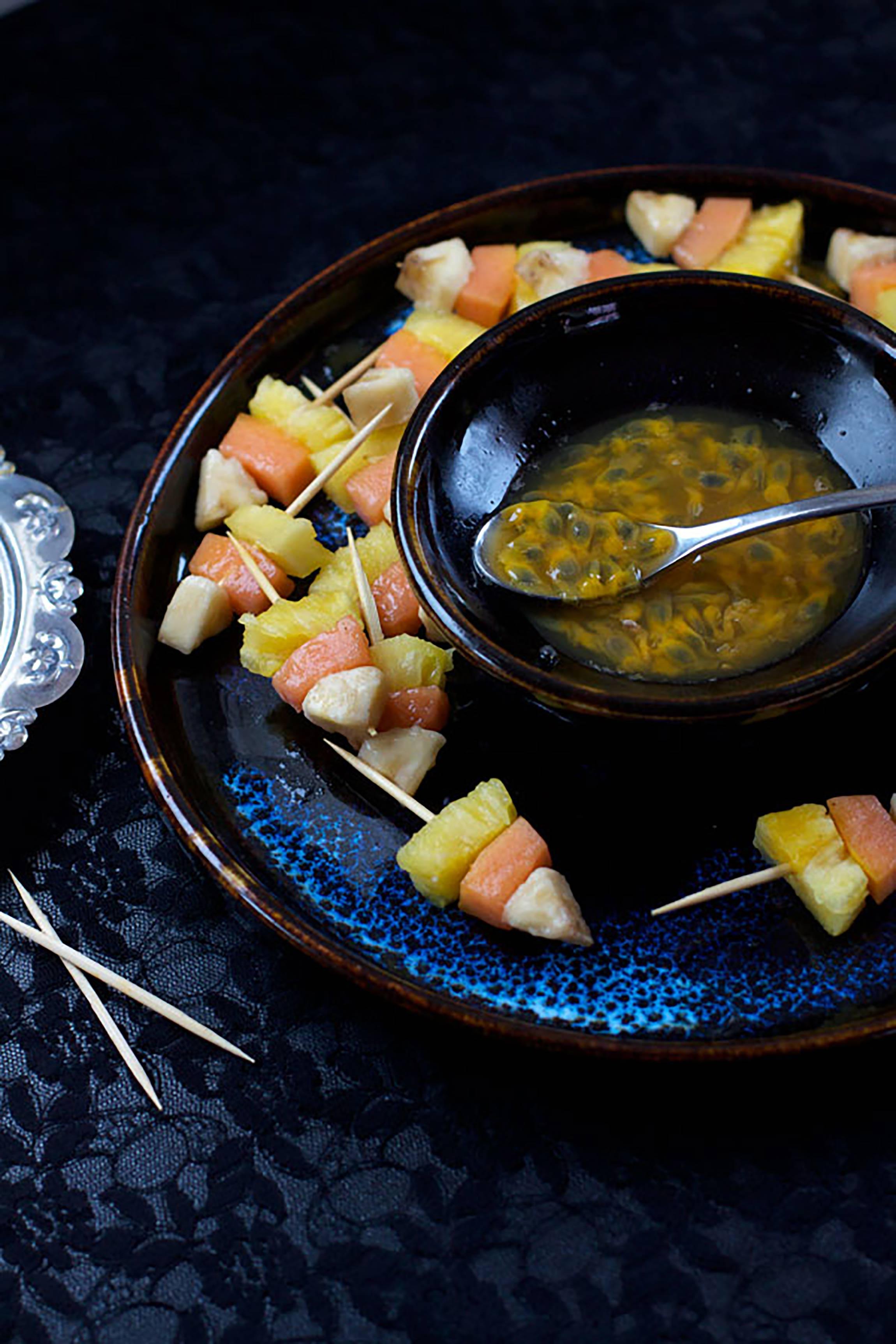 Healthy Halloween Snacks & Treats: Candy Corn Fruit Kabobs