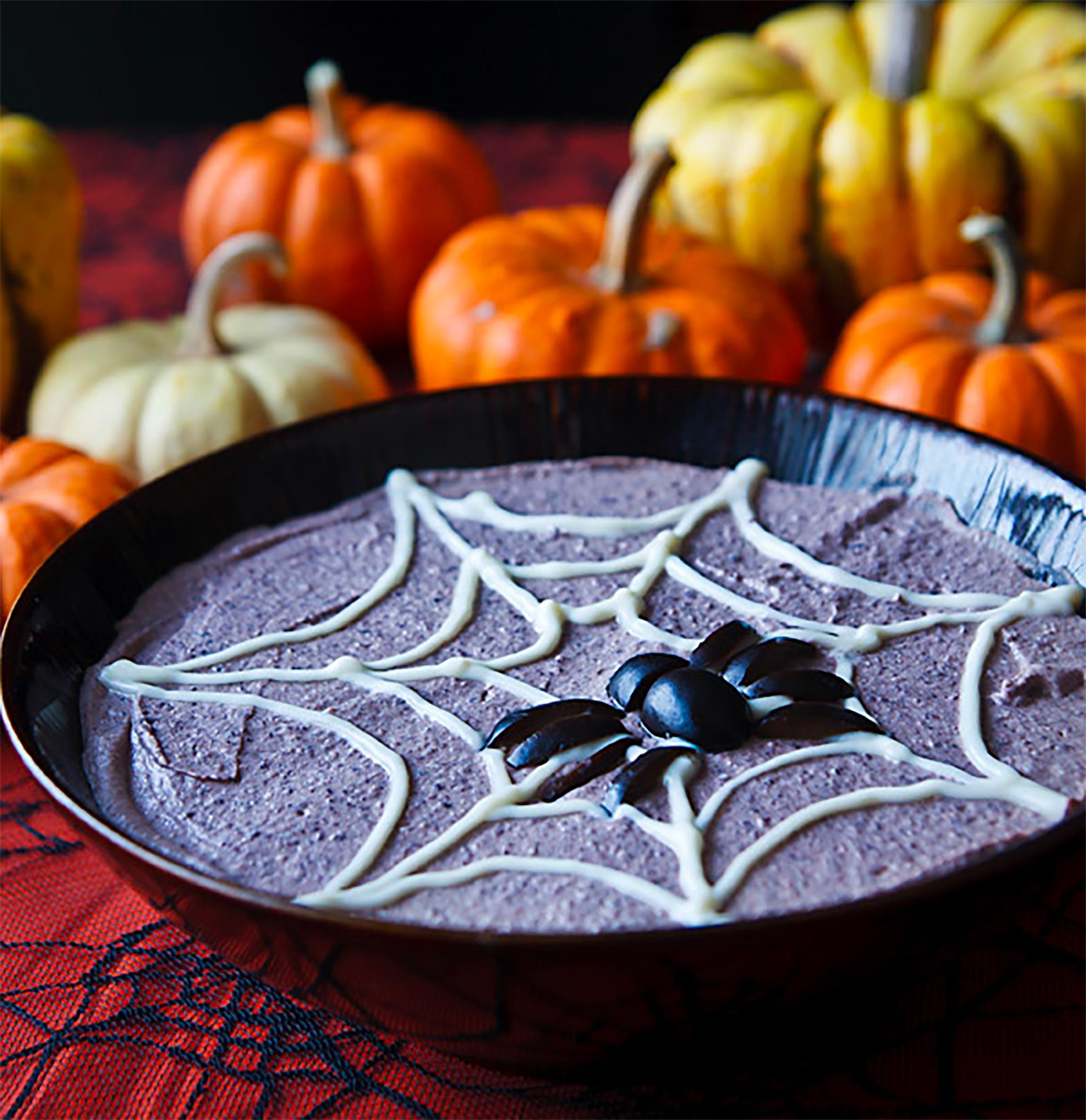 Healthy Halloween Snacks & Treats: Spooky Black Bean Hummus