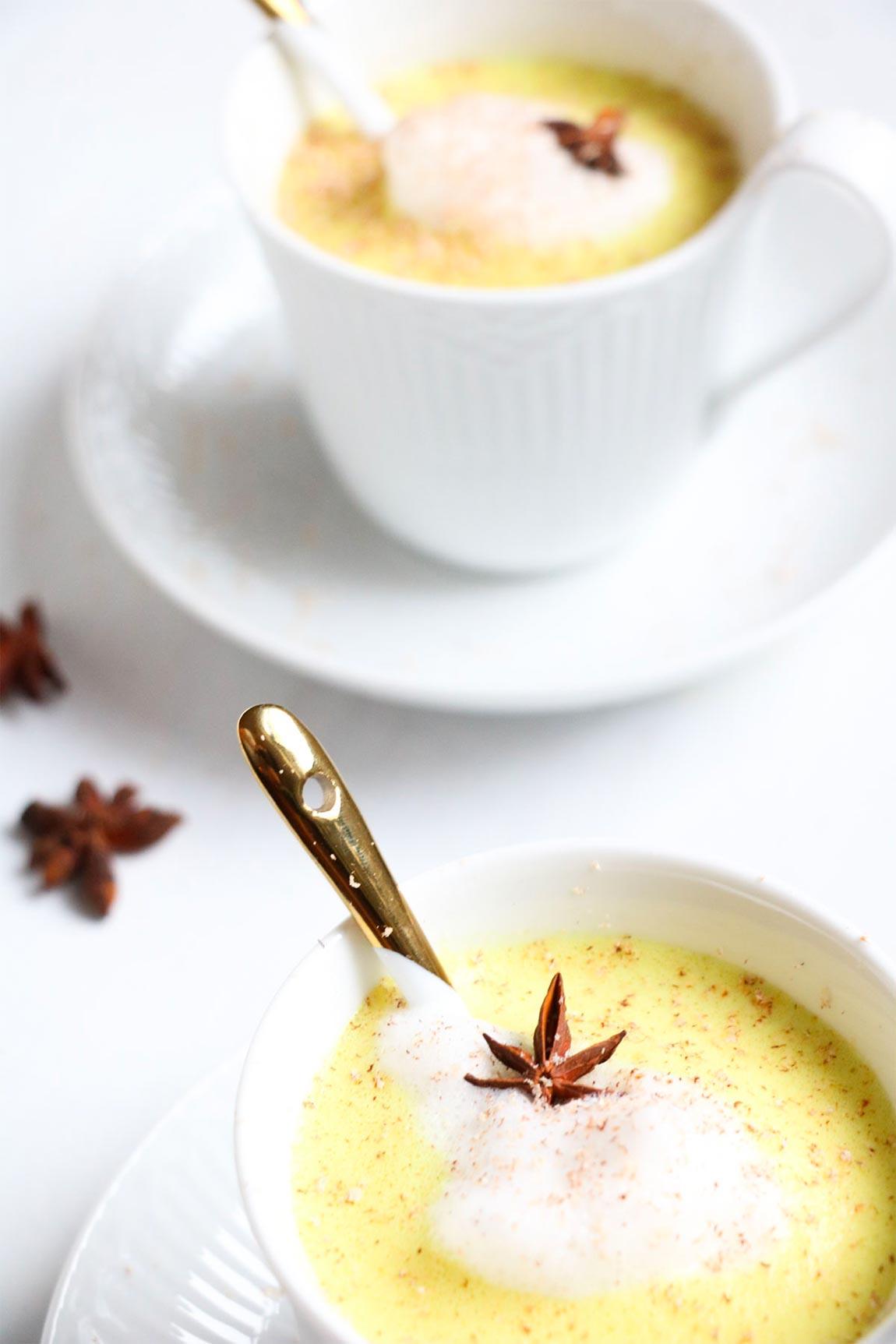 cups of eggnog - healthy holiday recipes