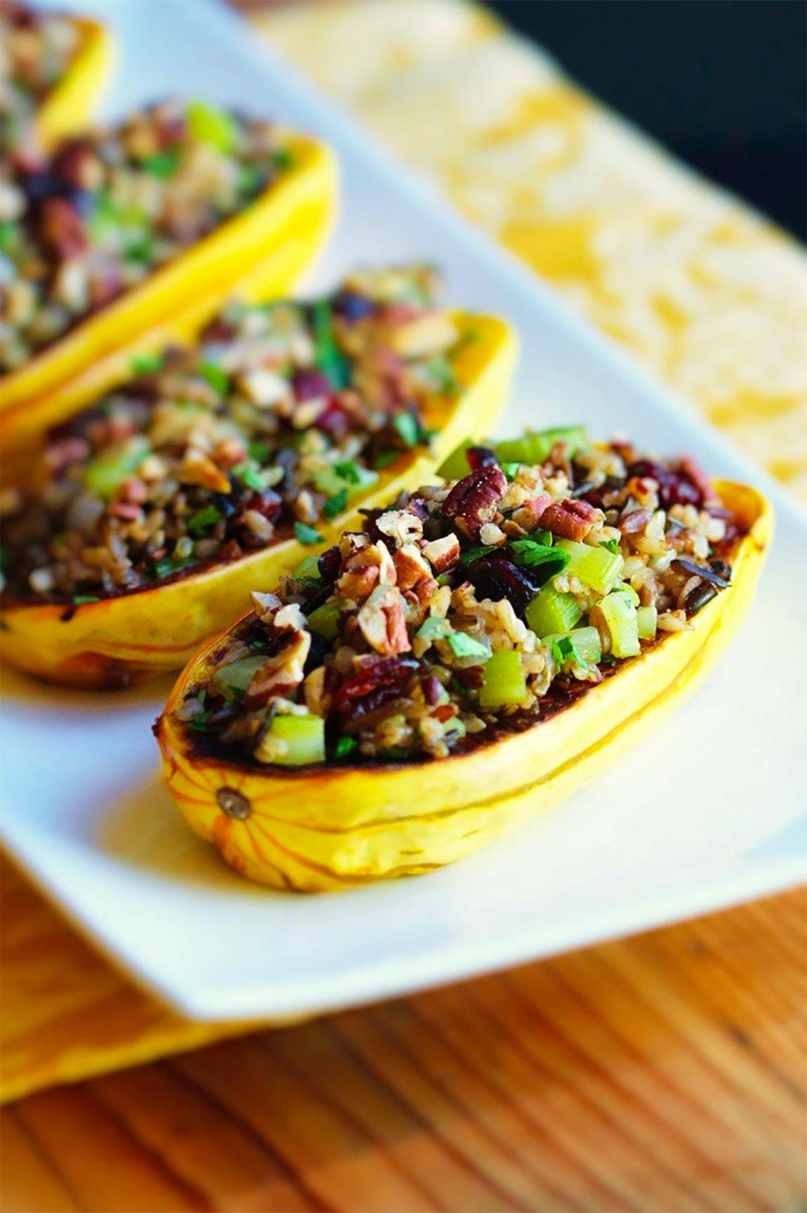 stuffed squash - healthy holiday recipes