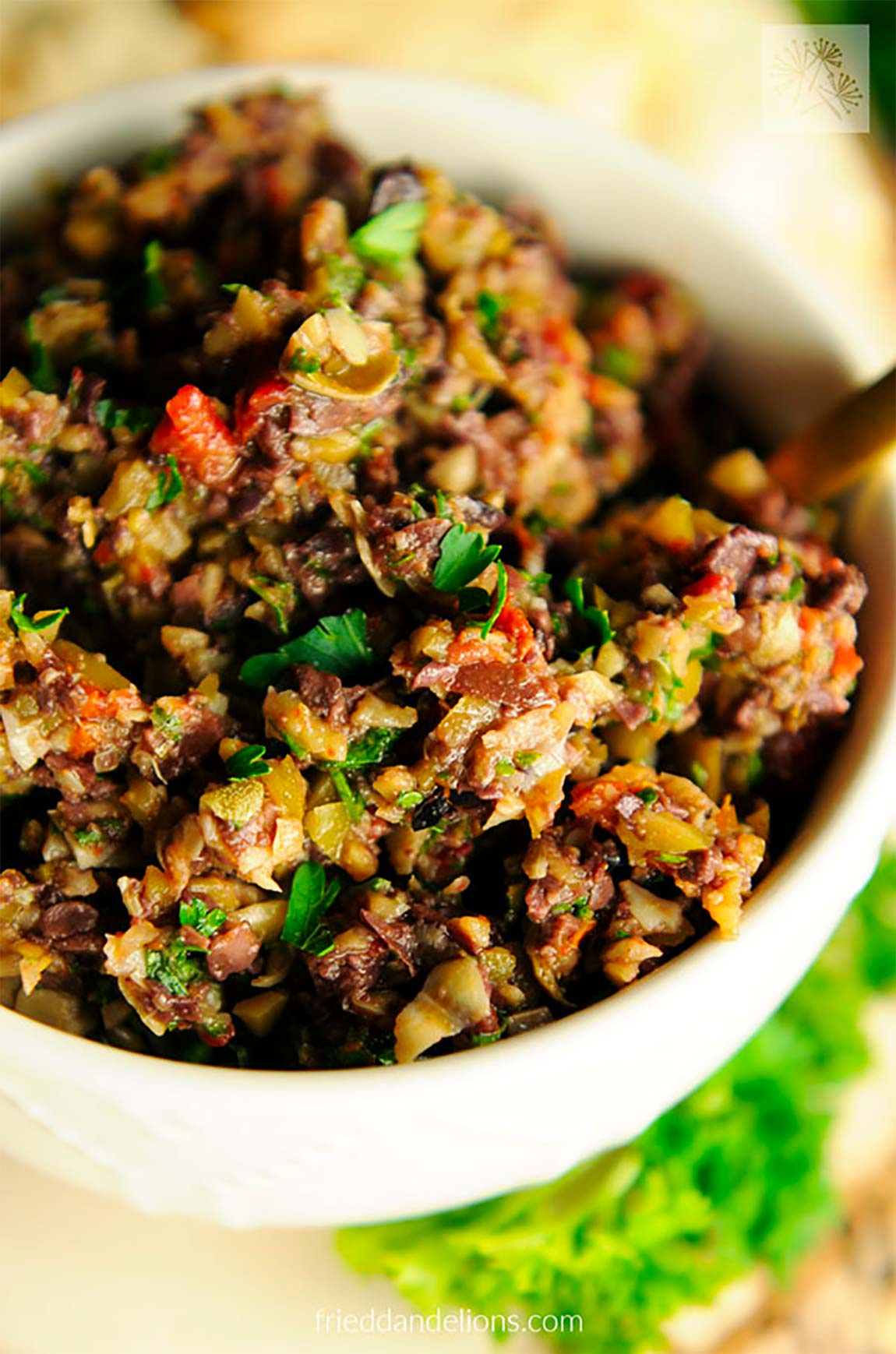 bowl of tapenade - healthy holiday recipes