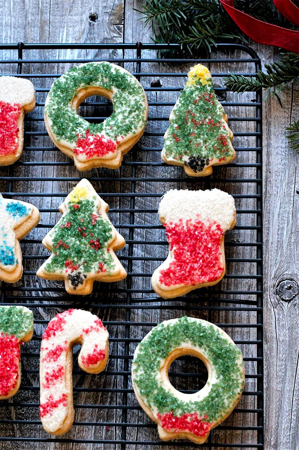 holiday decorated vegan cookies - healthy holiday recipes