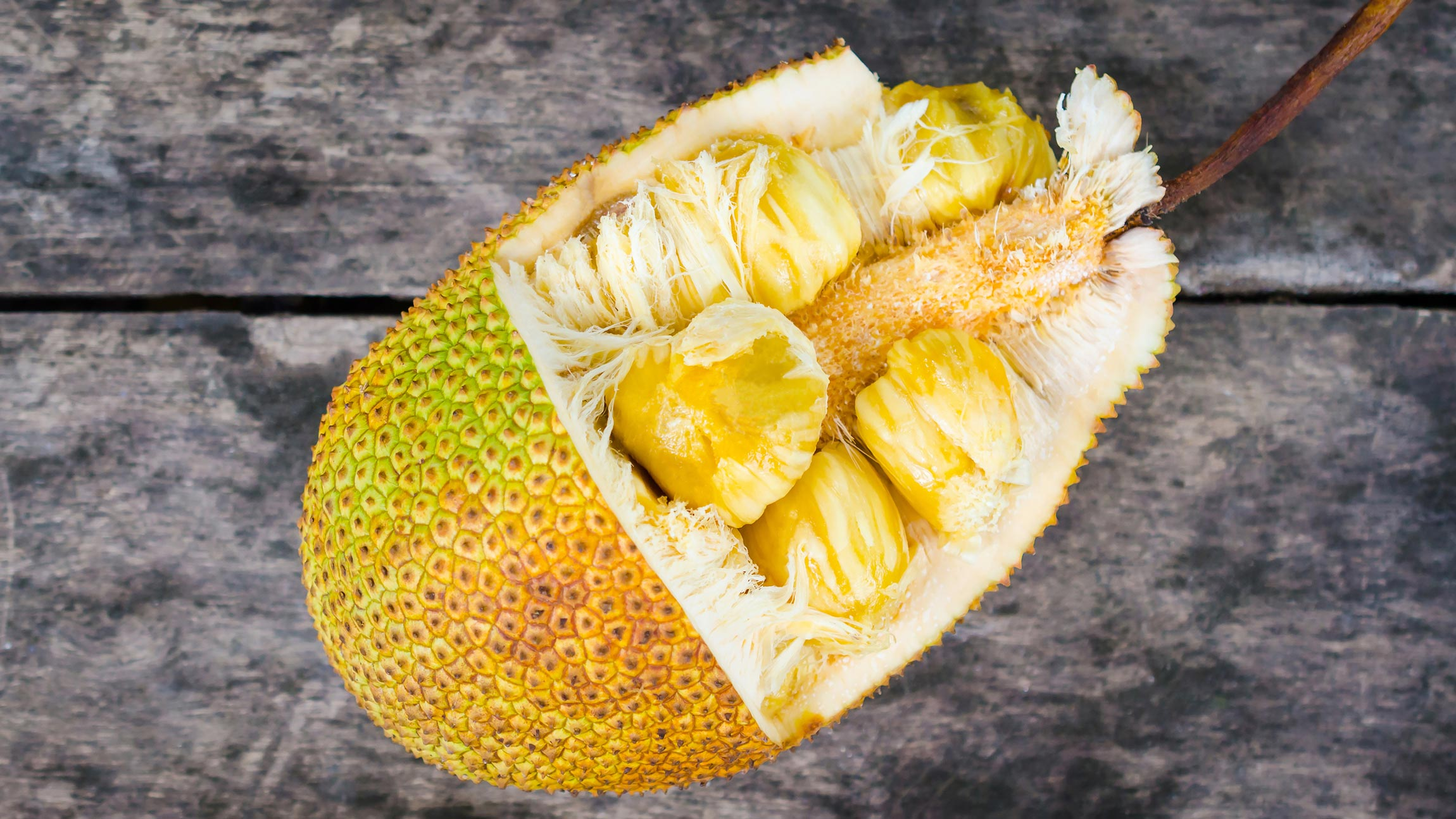 What a jackfruit looks like on the inside.