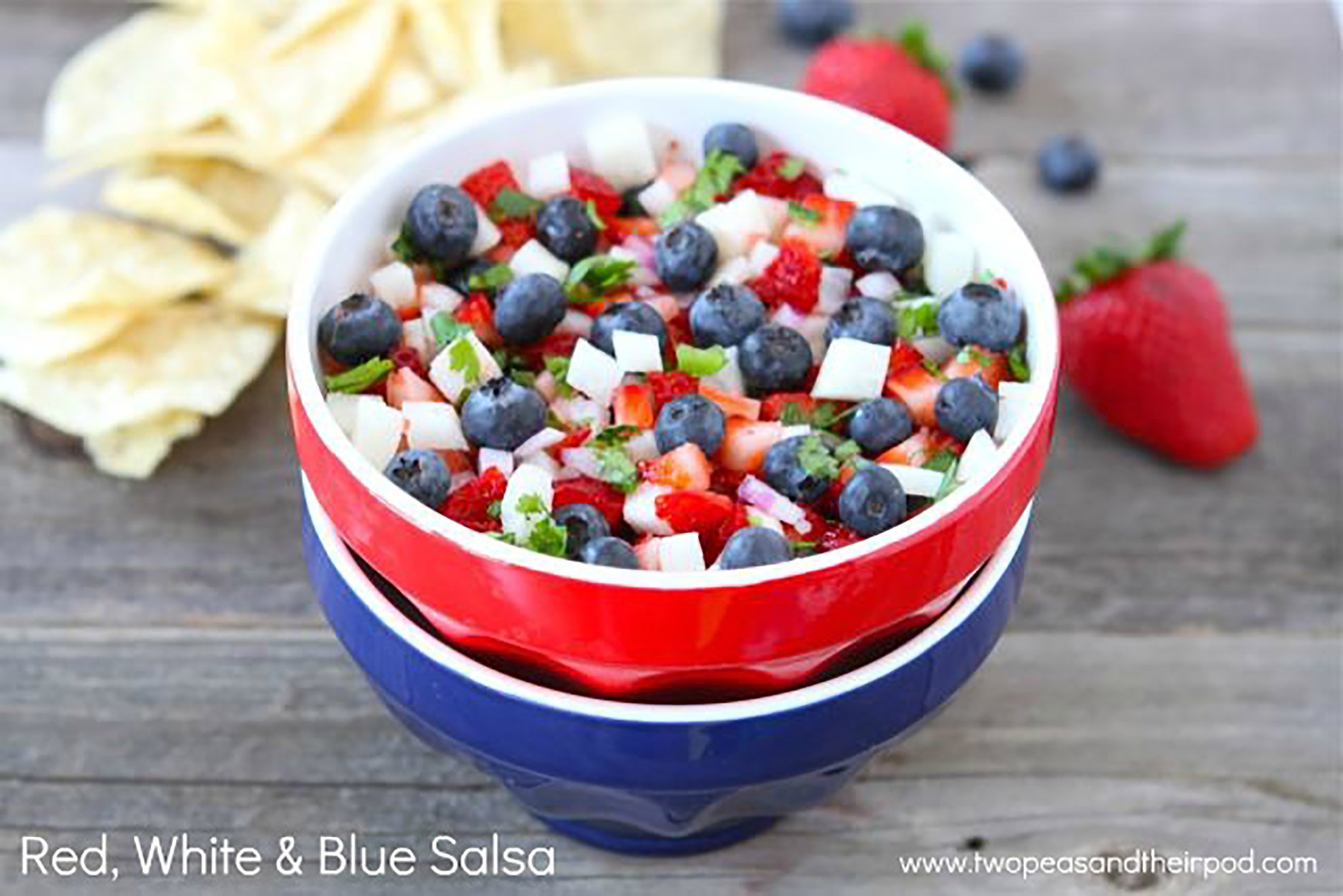 Healthy July 4th recipes: Red, White and Blue Salsa