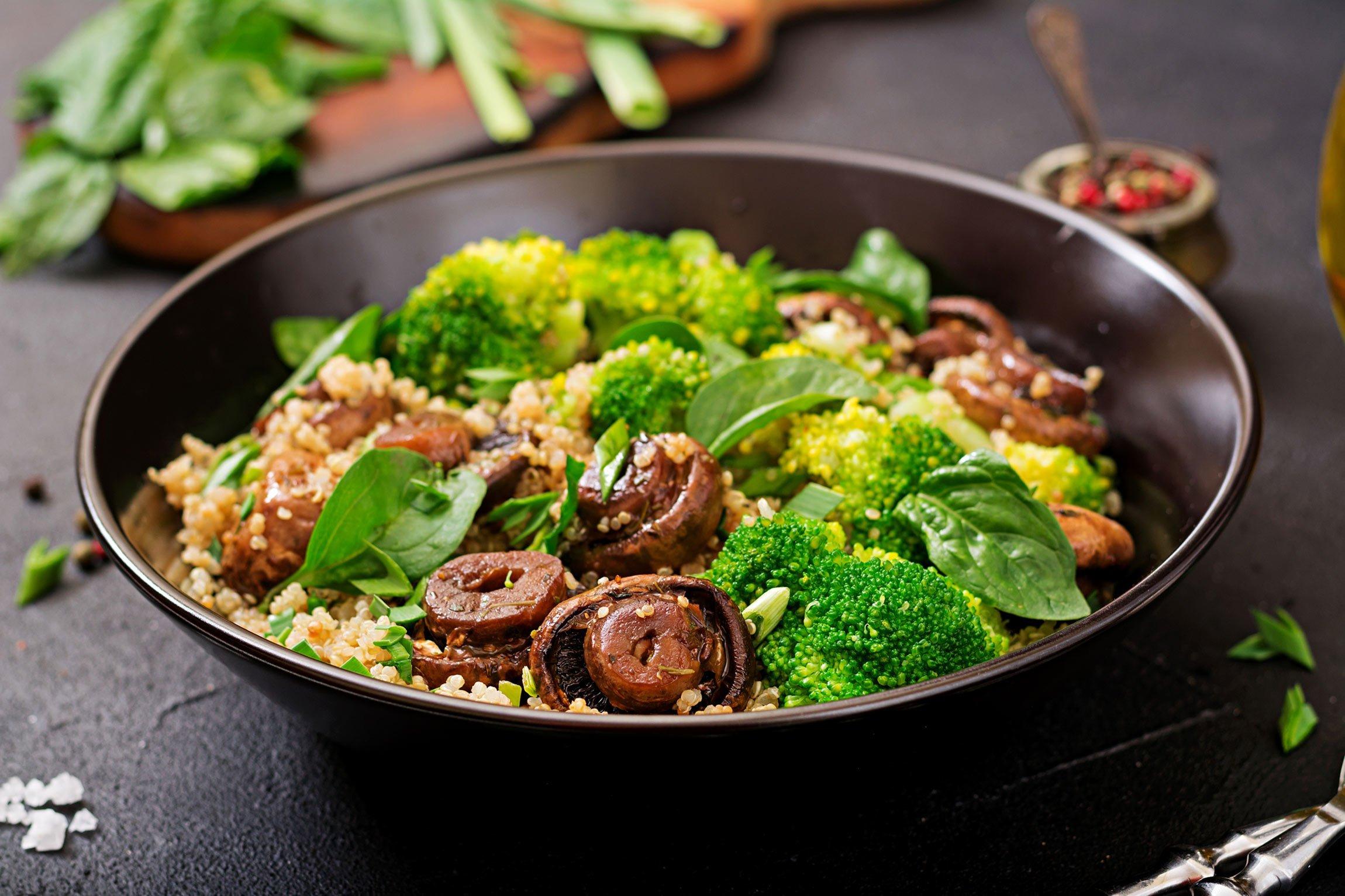broccoli and mushrooms stir fry