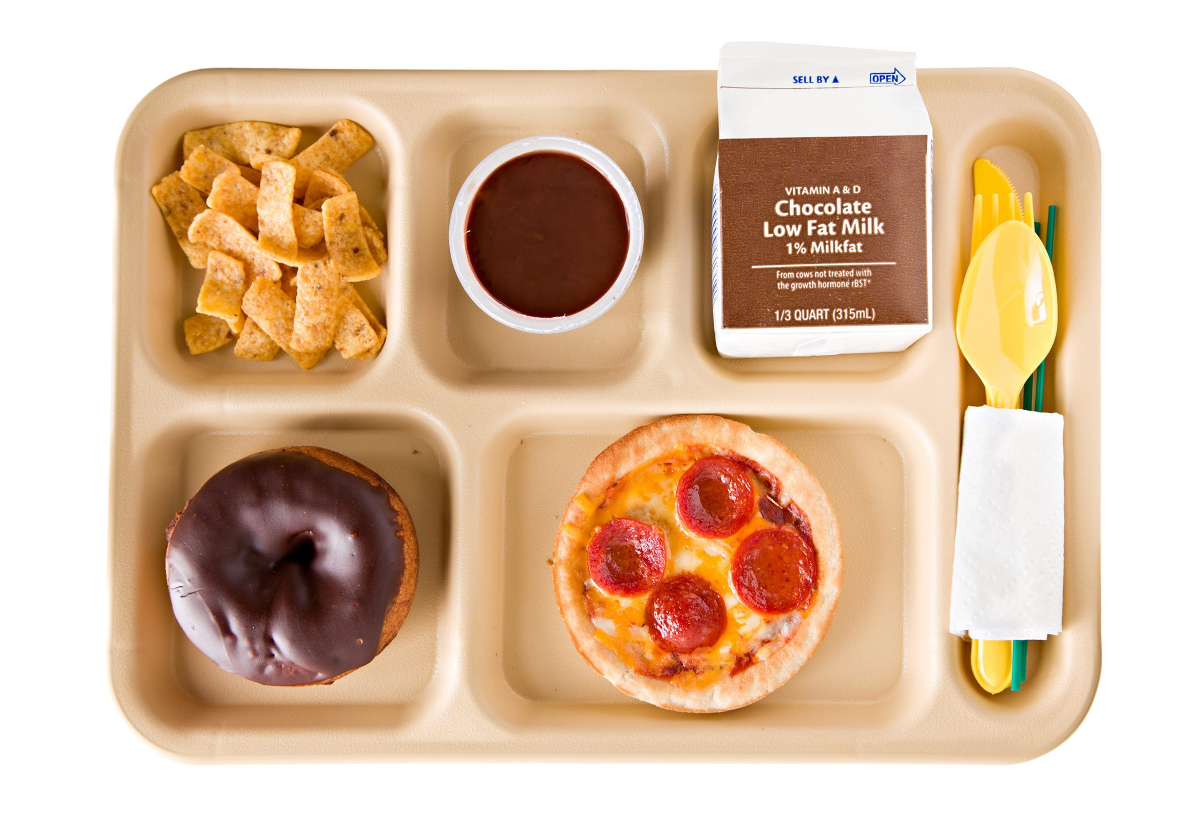 An unhealthy school lunch