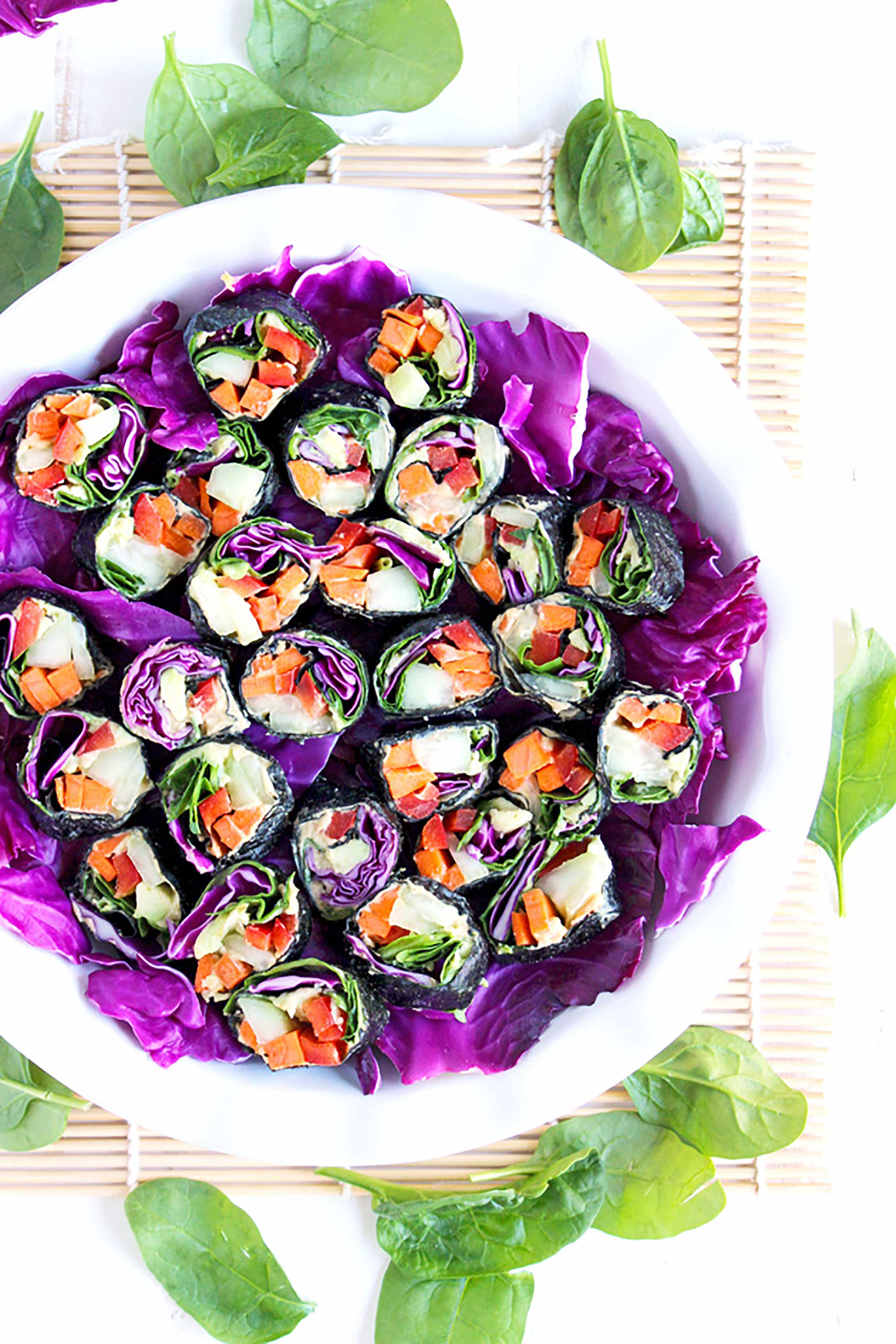 healthy school lunch ideas: veggie nori rolls