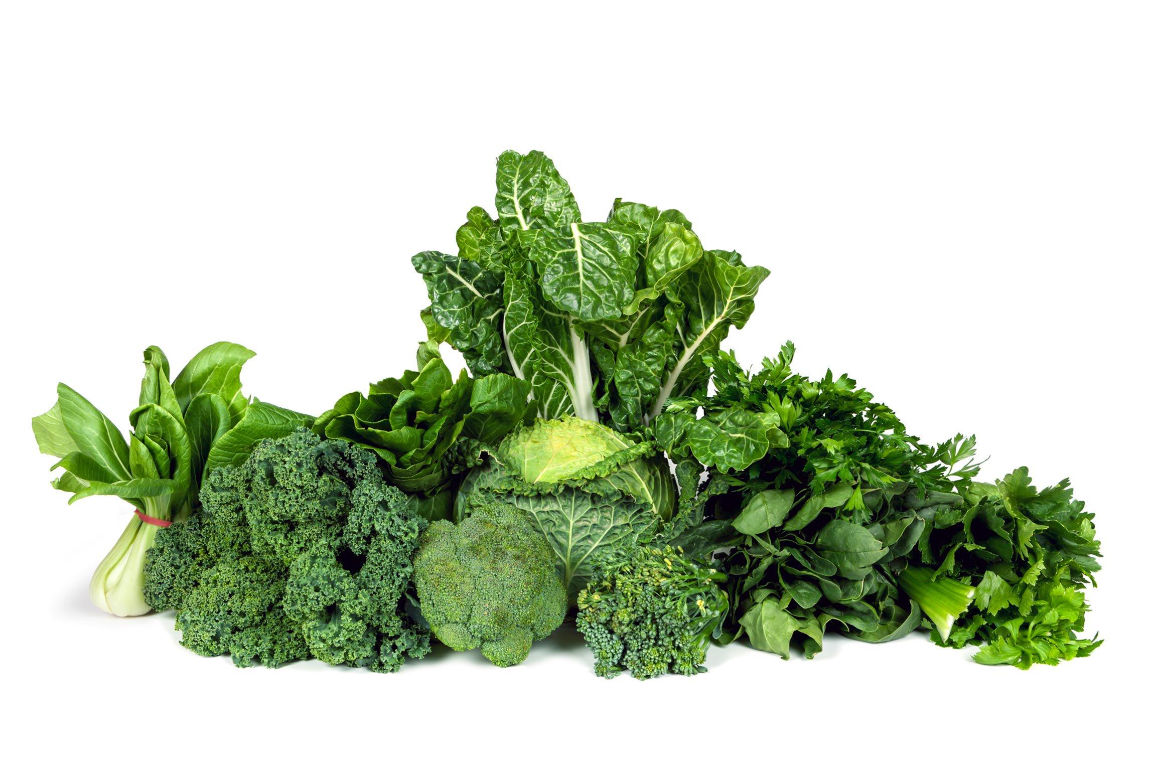 display of green vegetables