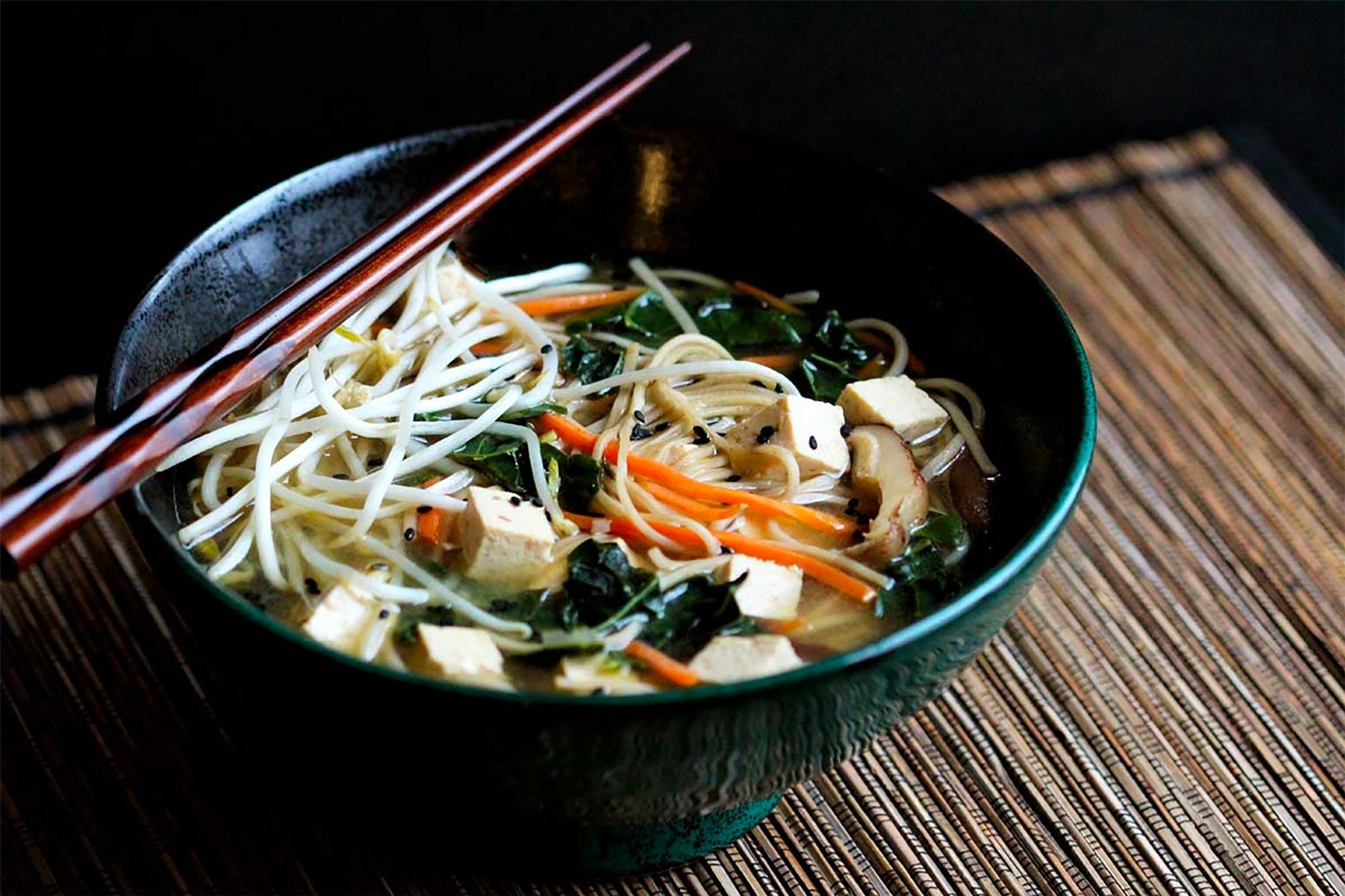 bowl of miso soba